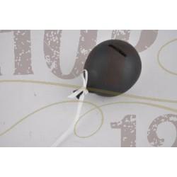 ballon 8h 8,7b 12,7l dolomite spaarpot schrijfbord zwart met gratis naam