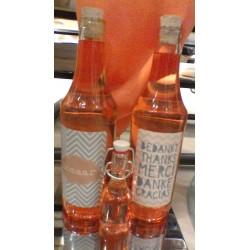 Halve liter bodywash grapefruit in gepersonaliseerd flesje met kurk.