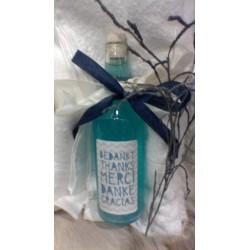 500 ml bodywash lelie met aloë vera in gepersonaliseerde glazen fles