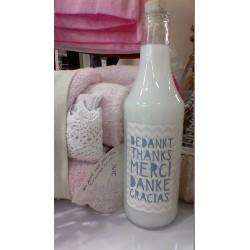 500ml bodywash aloë vera in glazen fles met je eigen etiket