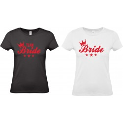 Bride crown & stars t-shirt