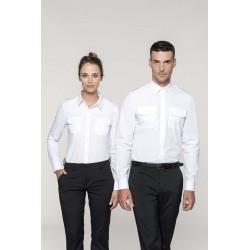 K506 - Damespilootoverhemd lange mouwen