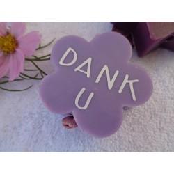 Zeepbloem lila 6 cm blanco voor zeepketting