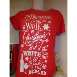Dames T-shirt White Christmas