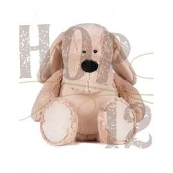 Zippy hond 45 cm borduring op de buik (optie)
