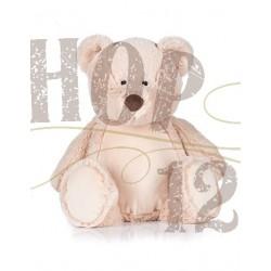 Zippy teddy 45 cm, borduring op de buik (optie)