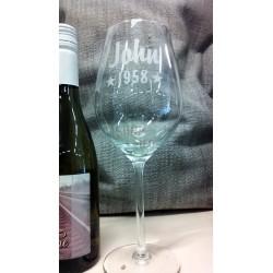 Wijnglas gegraveerd naar wens