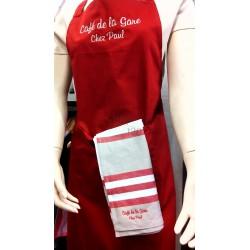 PR154 Gekleurde schort met zak, optie borduring