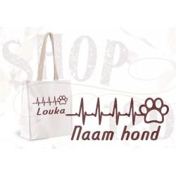 Shopper hartslag hond met naam