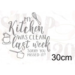 Muursticker my kitchen 40 cm