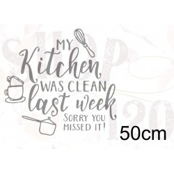 Muursticker my kitchen 50 cm