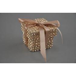 geschenk 7,5h 10,5b 10,5l papier vierk diamant champagne