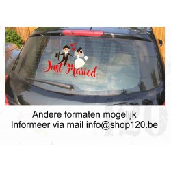 Autosticker Just Maried 40-20 cm