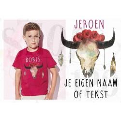 Kinder T-shirt Boho2 met je eigen naam/tekst