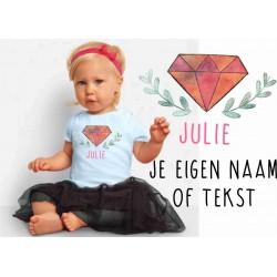 Baby T-shirtje boho 3 met je eigen naam