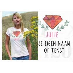 Organic dames t-shirt boho 3 met je eigen tekst